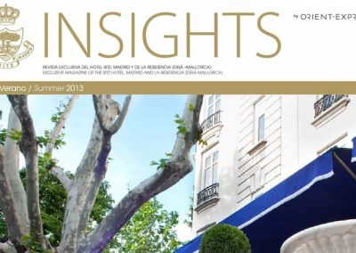 Revista Insights del hotel Ritz de Madrid